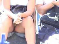 Upskirt no panties 8